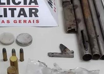 Militares vão apagar incêndio e descobrem fábrica clandestina de armas de fogo